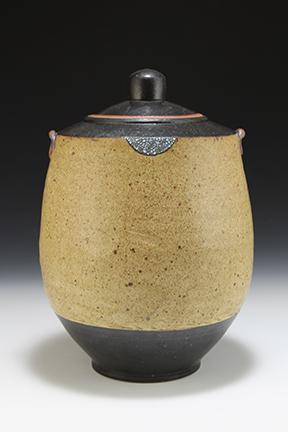 Bo Bedillion Jar 10 (BB#51)  11x7.5x7.5 ceramic $150