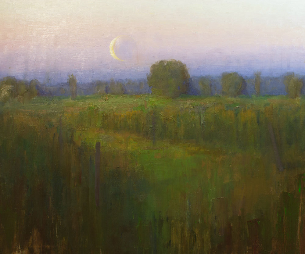 Devin Roberts The Dying Light  20x24 oil on linen $1,400 fr
