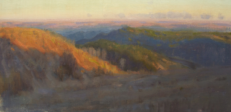 First Light Over the Flint Hills  12x24  ol  $1,000 fr