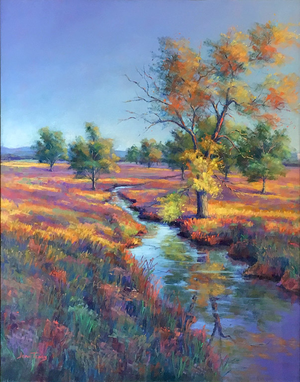 Peaceful Stream II  12x16  pastel  $460 fr