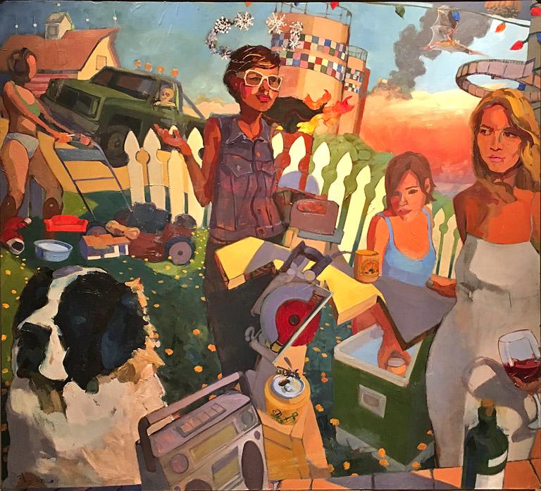 Zak Barnes Jackie Sawdust  48x54 ob $5,200 fr