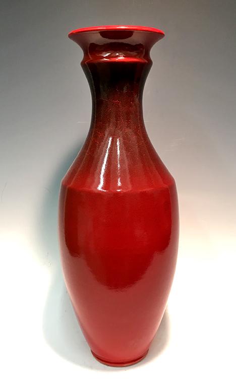 Red Vase (#82) ceramic $250
