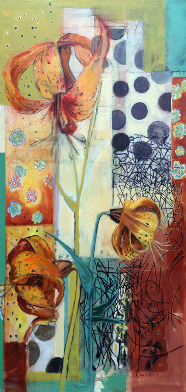 Diana Werts Michigan Lillies 78x38  oc  $6,000