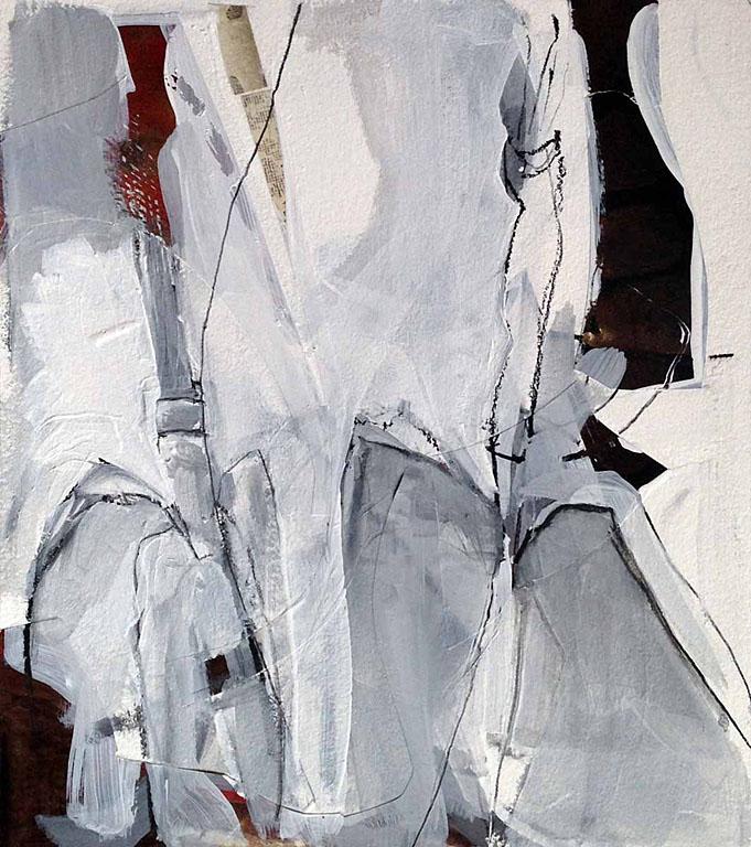 Collage Sketch - Liatris 9x8 op $350 uf $450 fr