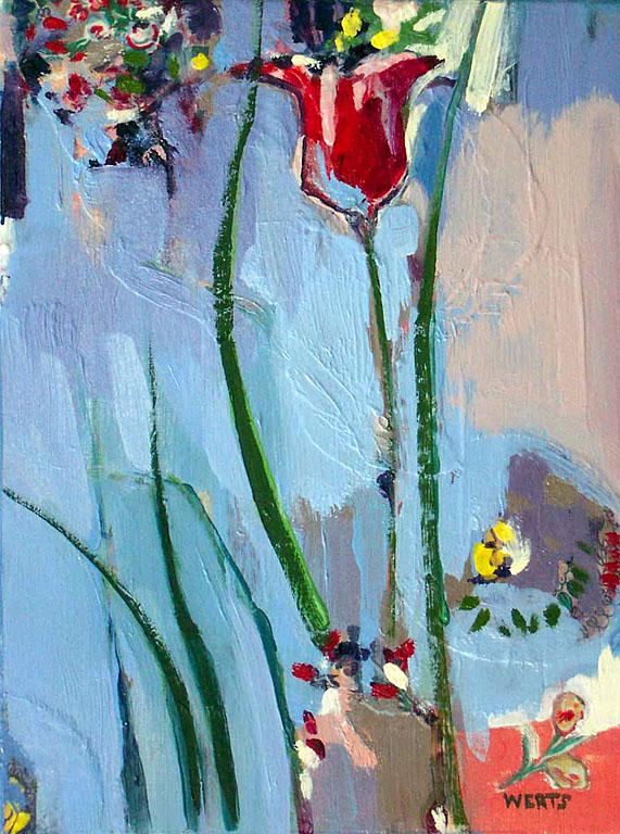 Flower Collage #1 12x9 op $400 uf $455 fr