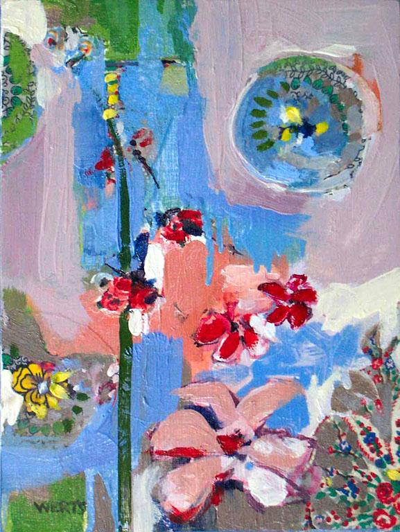 Flower Collage #2 12x9 op $400 uf $455 fr