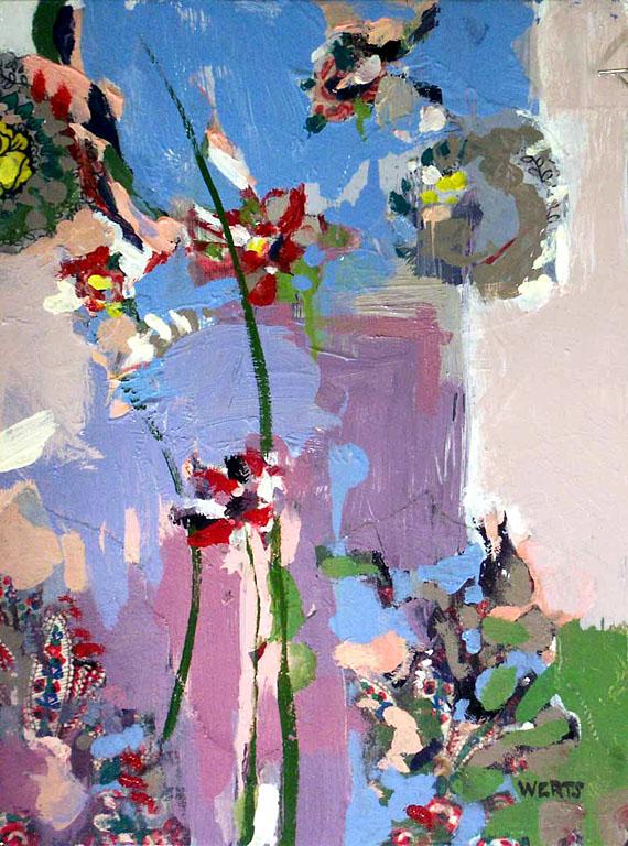 Flower Collage #3 12x9 oc $400 uf $455 fr