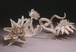 White Zinnia  ceramic  $3,000