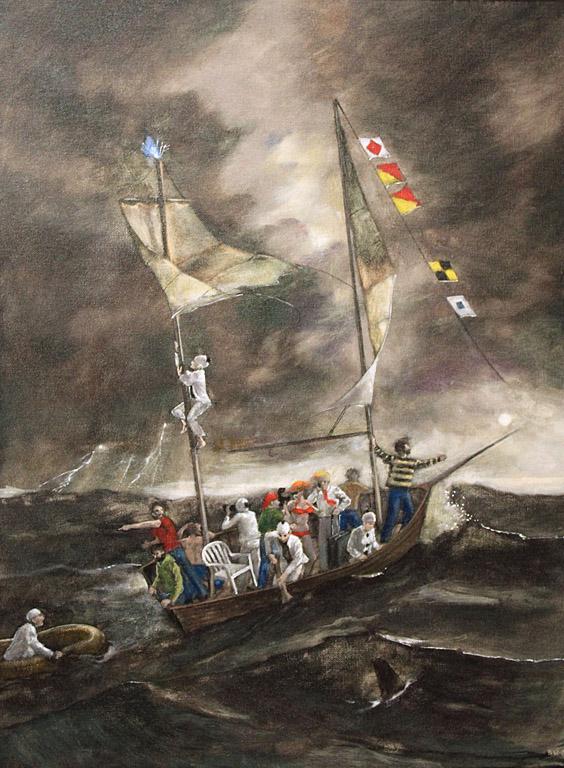Barbara Waterman-Peters Ship of Fools (St Elmo's Fire) 24x18 oc $1,500