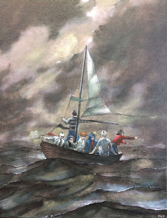 Ship of Fools (Sea of Doubt)  16x12  oc  $925