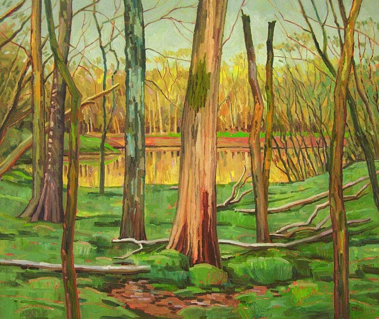 Duck Pond, Woods 22x26 oil $600 fr