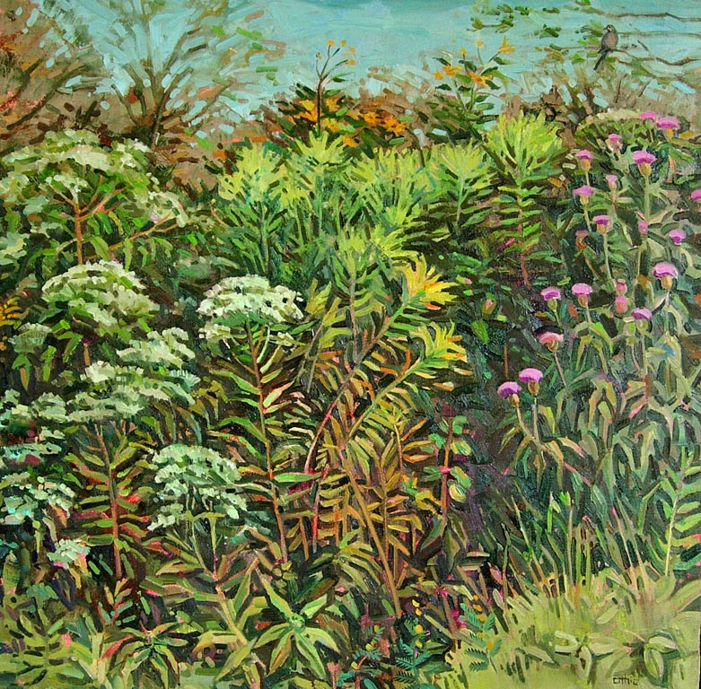 Weedy Patch 20x20 oil $550