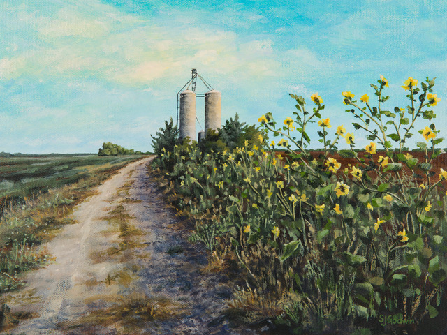 On the Meadowlark Trail   Sue Godwin 9x12  ac  $395