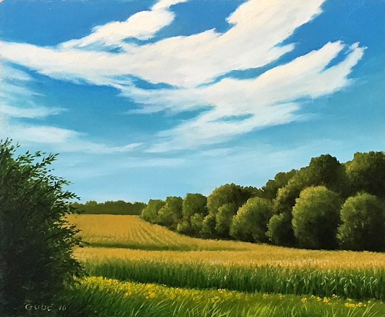 Summer Corn   Anthony Benton Gude 10x12  op  $1,150