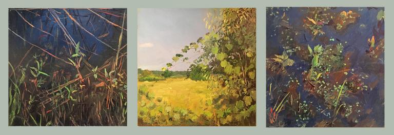 Swarm 6-16-5, 6-22-5, 6-13-5  Paul Hotvedt 17x47.5 op triptych $2,000 fr