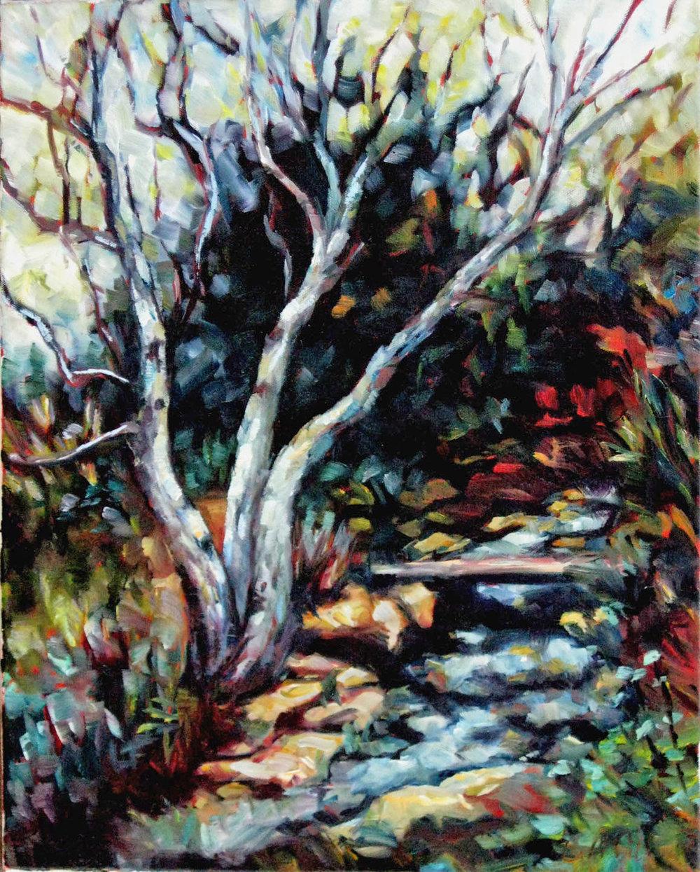 Upstream  Carol McCall 16x12 oc $600 fr
