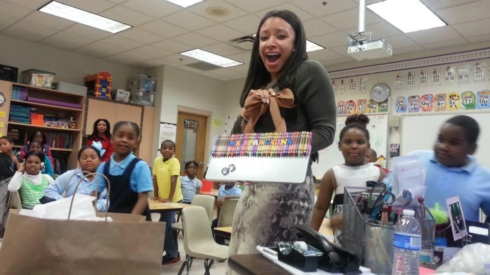 Surprised an outstanding teacher with a custom Doorhanger/Dry Erase board
