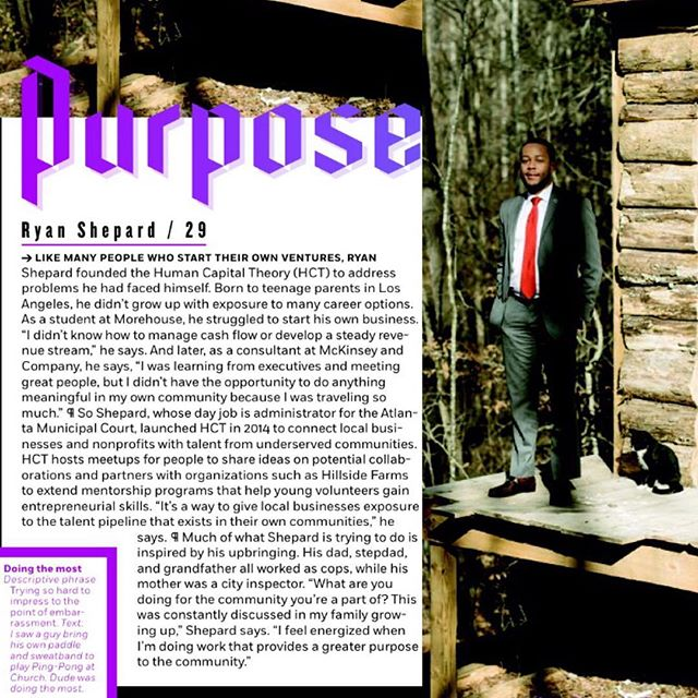 Check out the February issue of @atlantamagazine featuring @humancaptheory @shepistrending & Thanks for sharing our story!  cc: @feifei_sun @raymondmccrea  #imagineif #DontDoubtTheYouth
