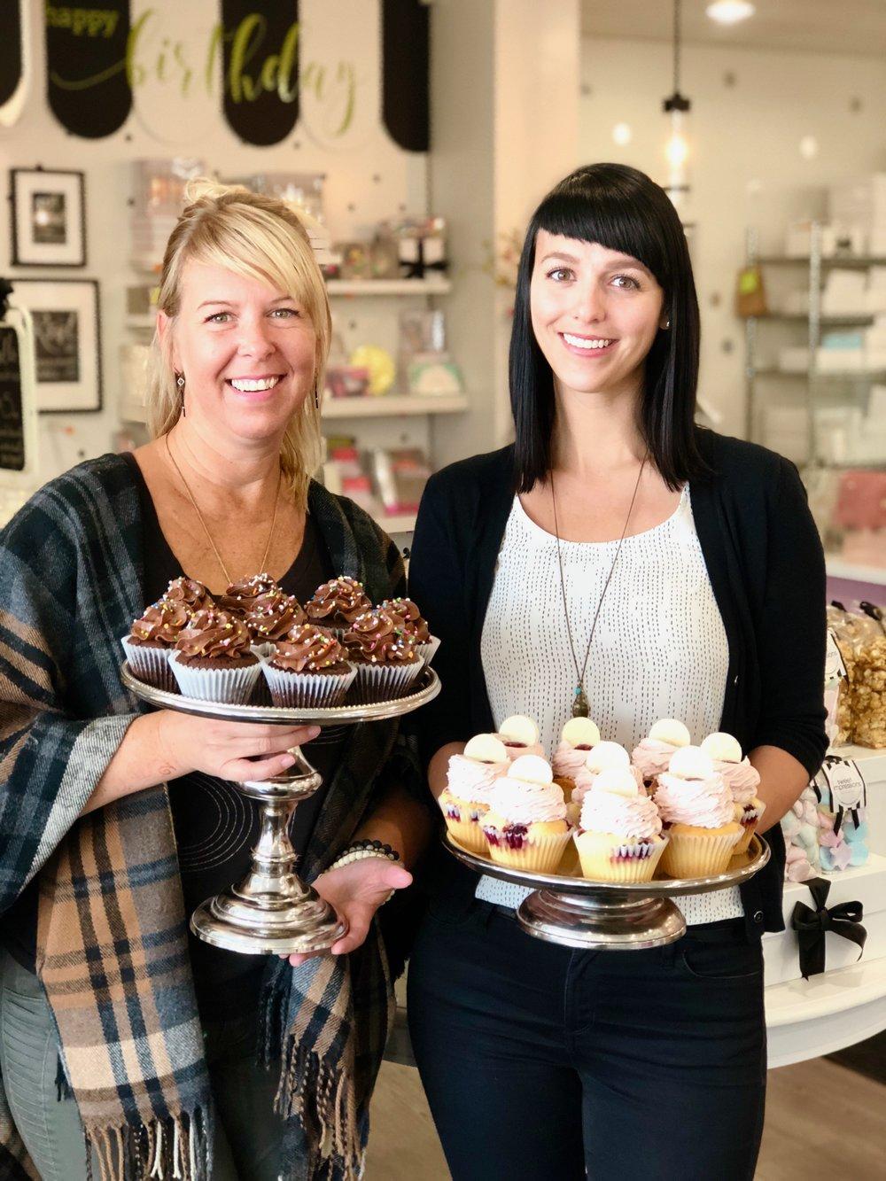 Krista and Aynsley at their Winnipeg bakery.