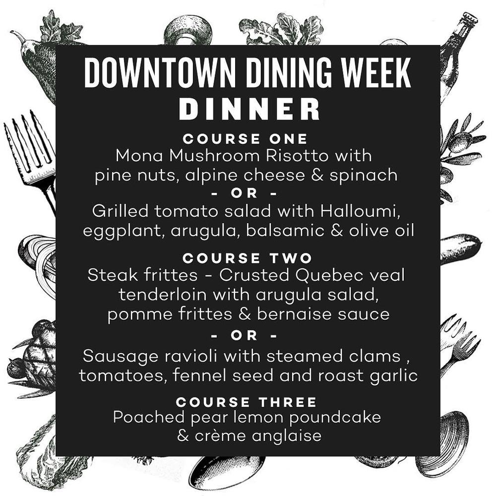 the common restaurant edmonton menu downtown dining week