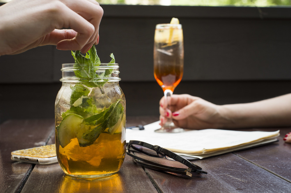 Our summer cocktail menu is full of refreshing classics, like Pimm's Cup and Processo Spritz!