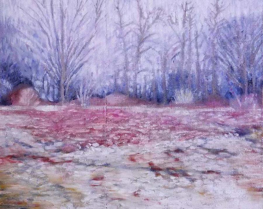rose violet fall