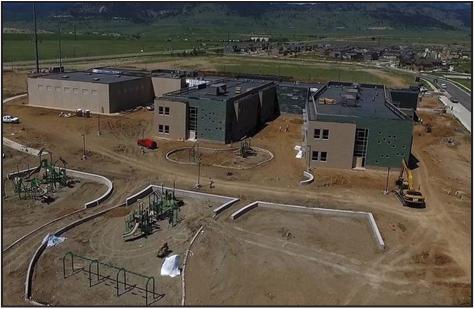 Three Creeks Elementary, under construction