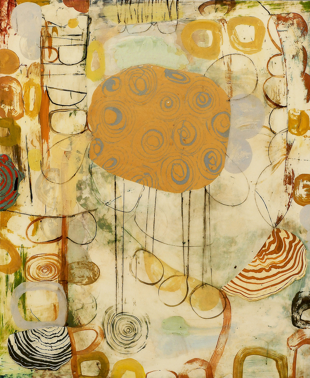 "Burano No. 3  2014  acrylic on panel  30 x 36"""
