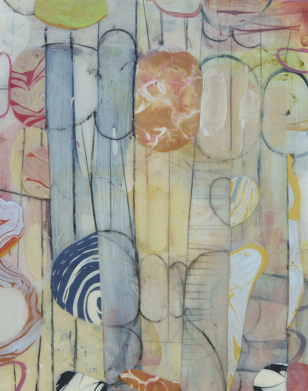 "Fog No. 2  2015  acrylic on panel 16"" x 20"""