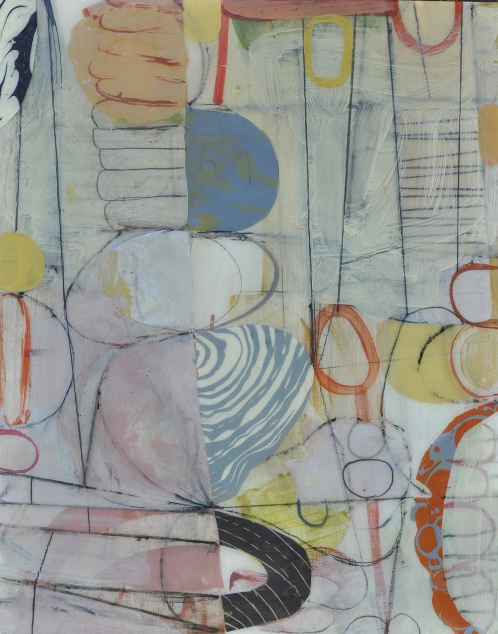 "Fog No. 3  2015  acrylic on panel 16"" x 20"""