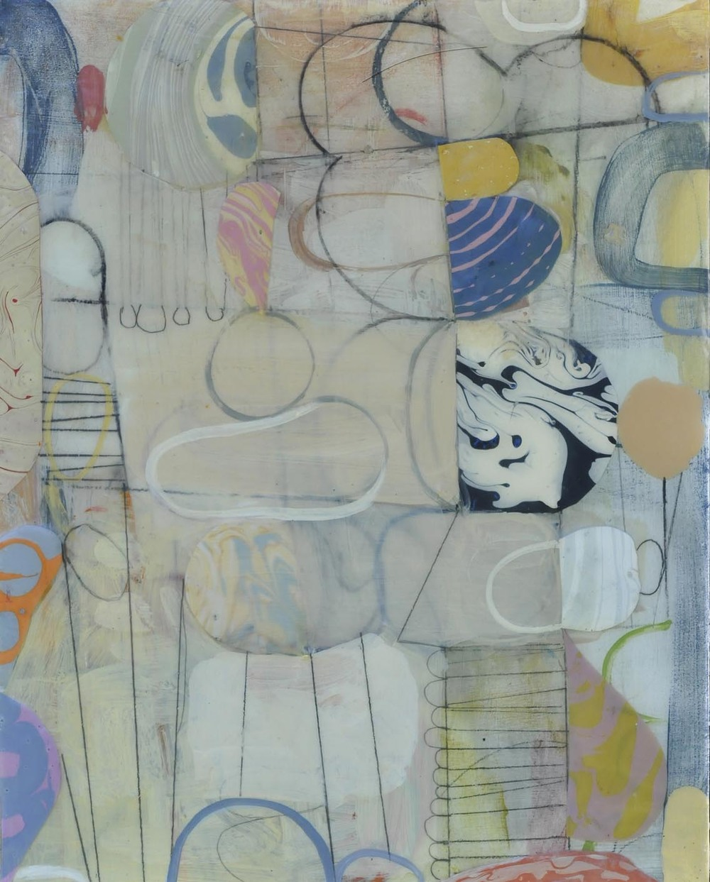 "Fog No. 4   2015  acrylic on panel  16"" x 20"""