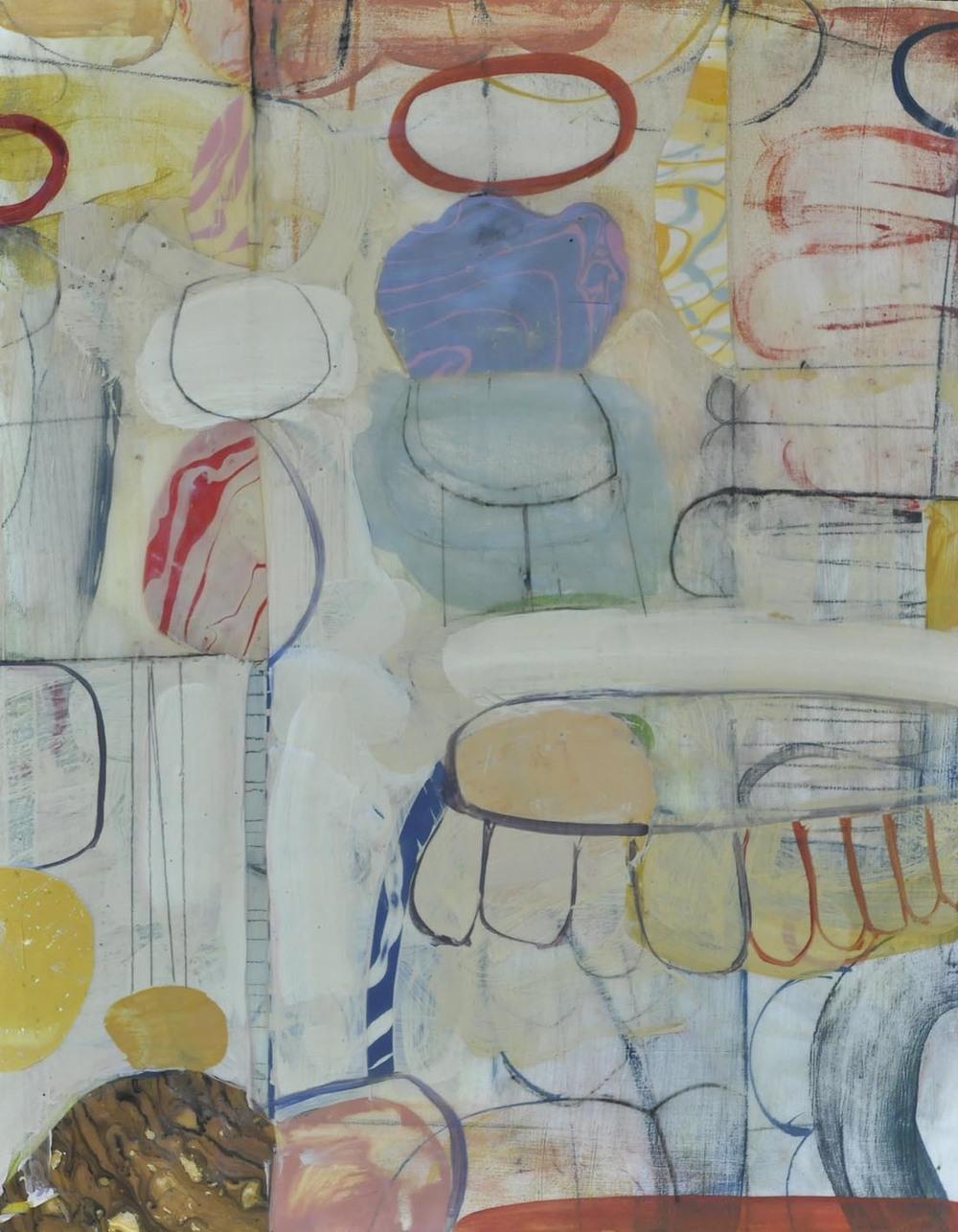 "Fog No. 5  2015  acrylic on panel  16"" x 20"""