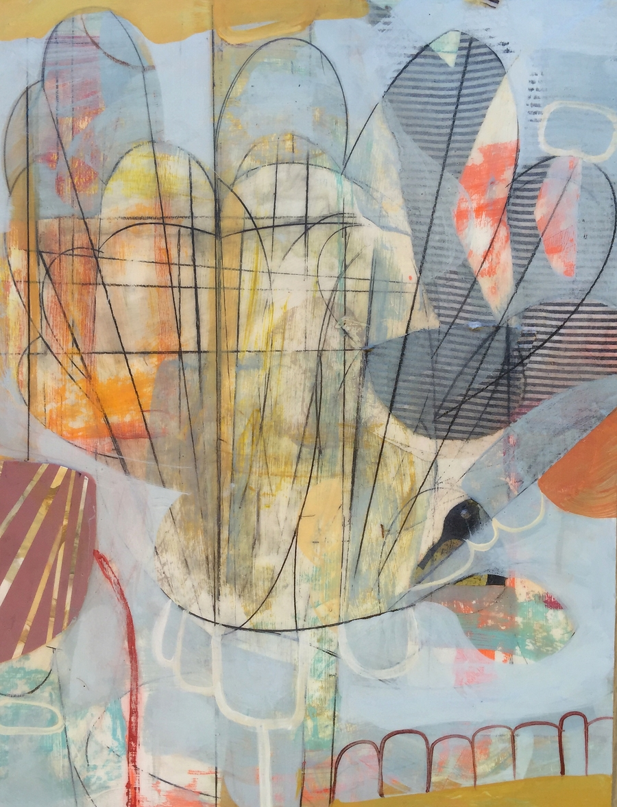 "Flower Pot No. 1  2016  acrylic on panel18"" x 24"