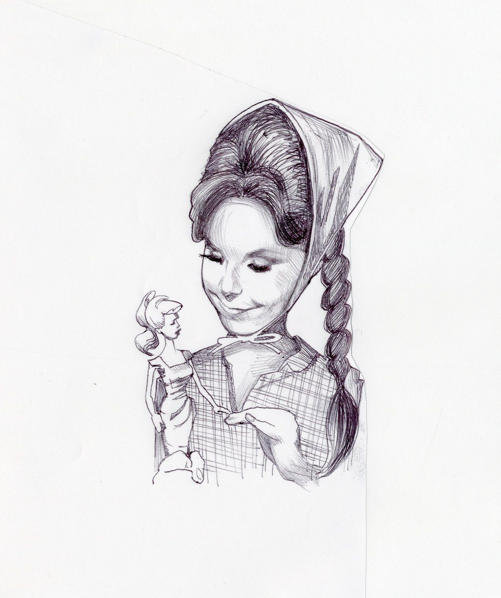 "This is a sketch from a new book from Dawn Wells,titled ""What Would MayAnn Do?"""