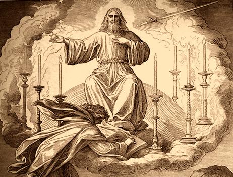 John's vision of Jesus, Illustrated by Gustave Doré