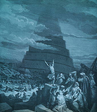 The concept of Babylon began with the Tower of Babel. It represents man's pride and opposition to God.