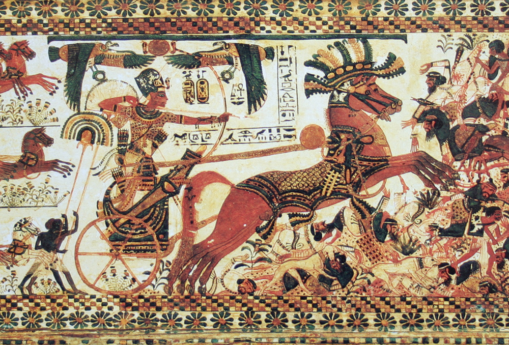 Solomon's bride was majestic like the heavily ornamented horses in Pharaoh's army.