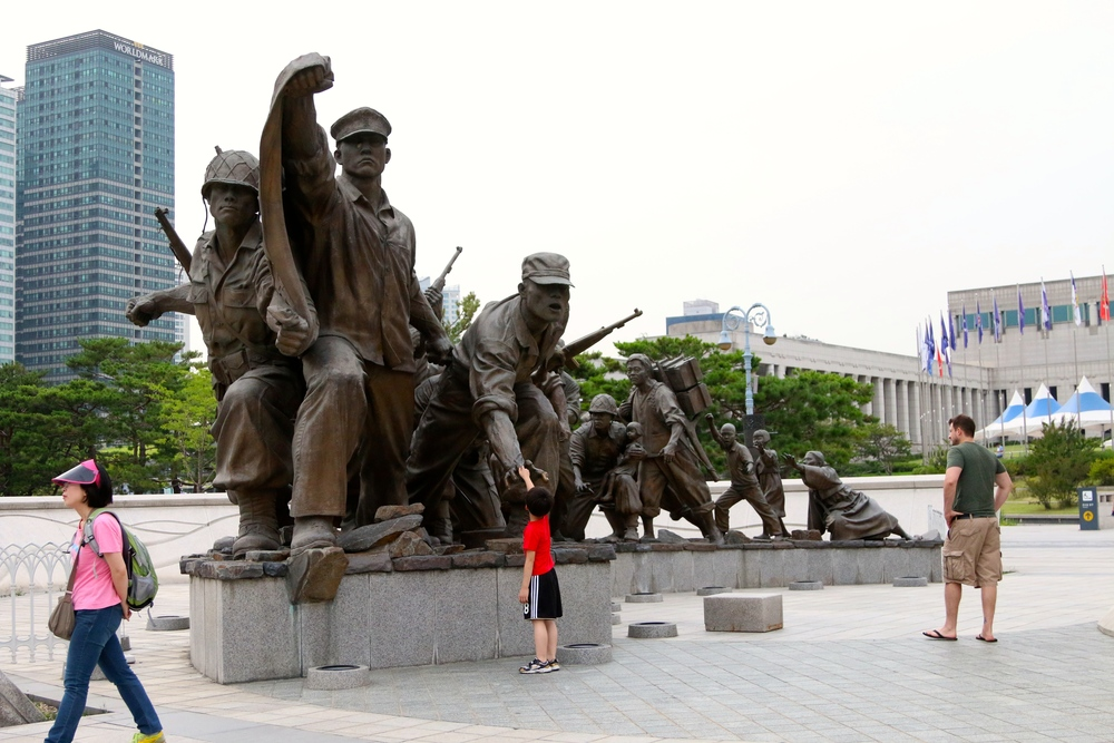 The Korean War Museum was near the subway station we used. It is free to visit and had some amazing information.
