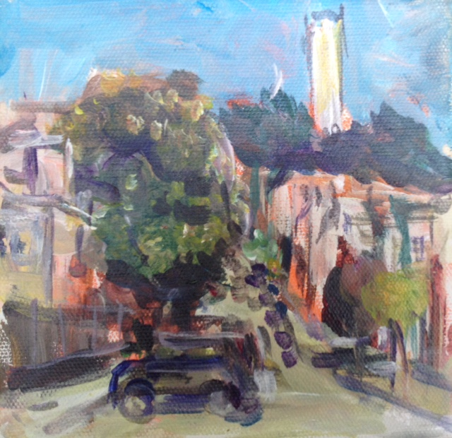 Preview Of The Show - Coit Tower, Acrylic, 2016