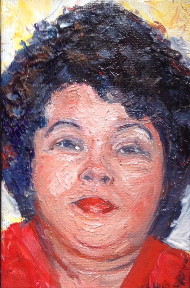 "Portrait of Jin  Oil, 2016  5""x7"""