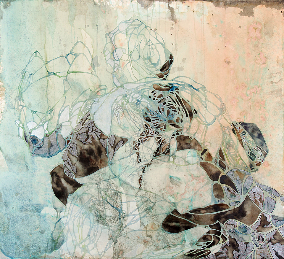 Tumbler I, 2014, Medium: drawing, painting on paper, Size: 123 x 140cm