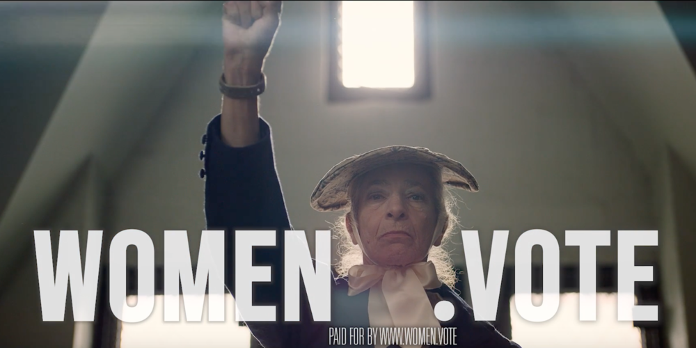 """WOMEN.VOTE - """"98 YEARS""""   political ad"""
