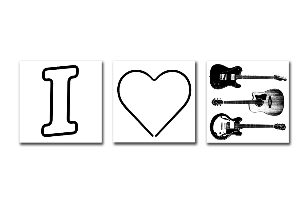 I HEART GUITAR - WHITE
