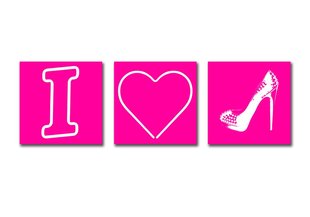 I HEART HEELS - PINK
