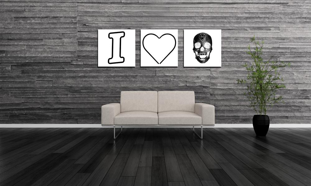 I HEART SKULLS - WHITE - 1