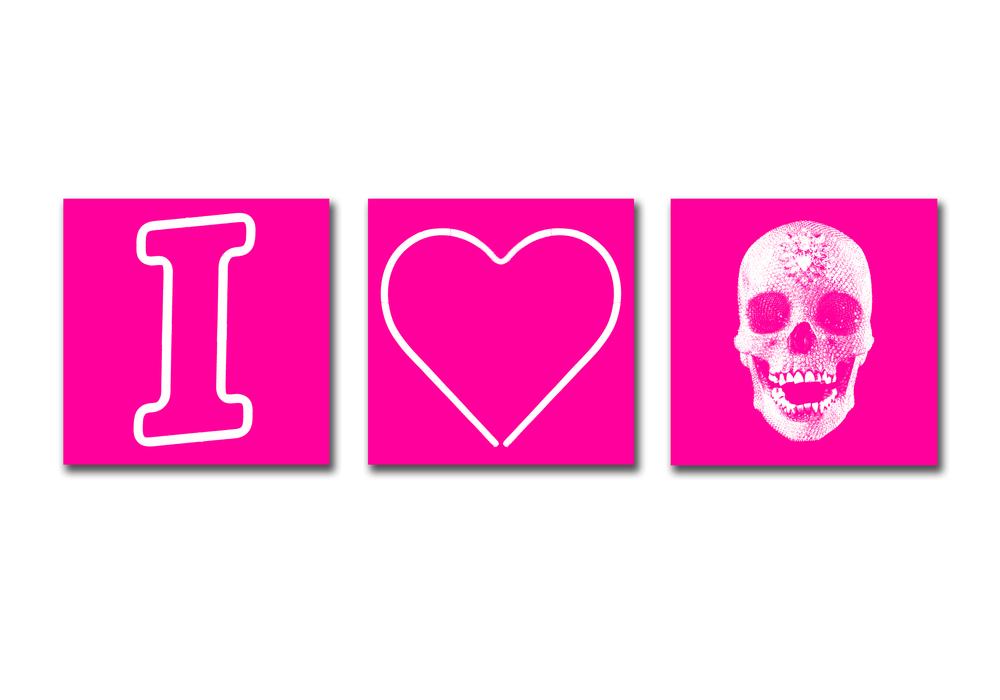 I HEART SKULLS - PINK