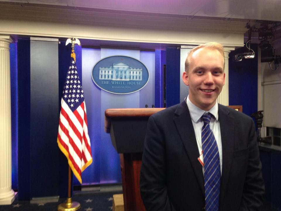 Brother Sean McQuillan at the White House Press