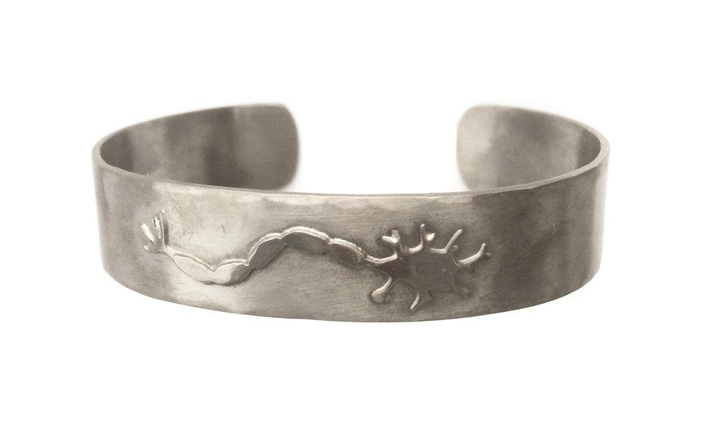 Mens Nerve cell Bracelet in Bronze and Black Rhodium