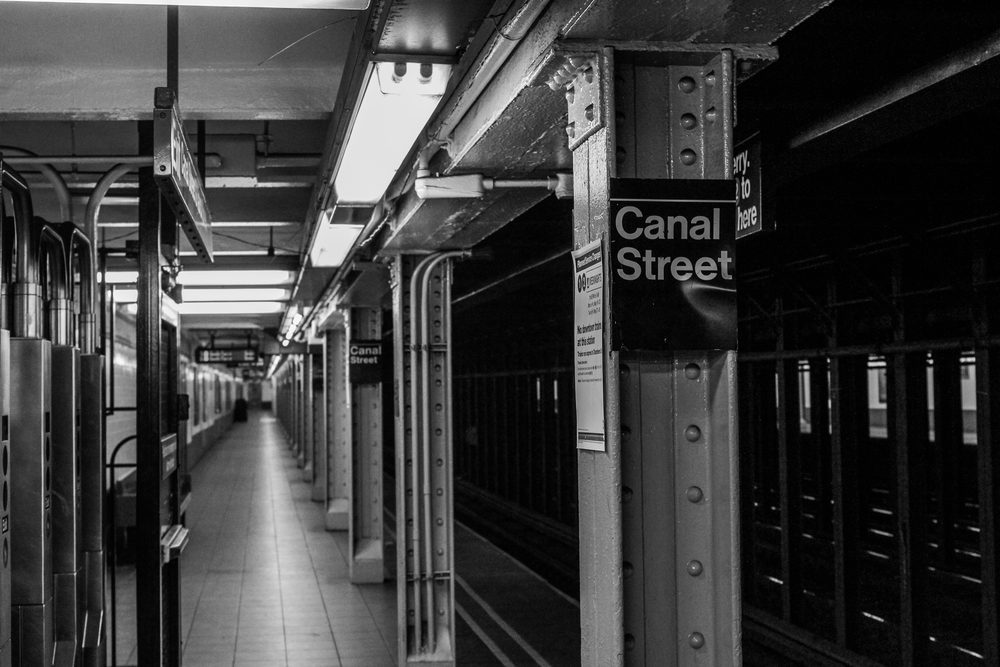 We entered the subways at the Canal Street station, and from there traveled to board the ferry at Staten Island.