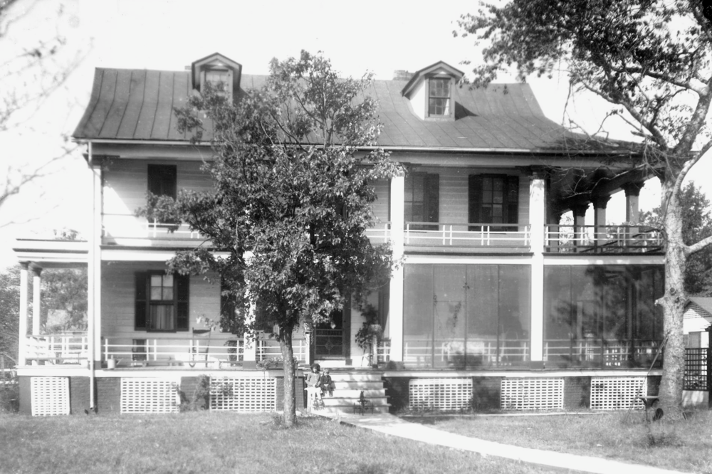 Historical view of Kaminski House before it was expanded.